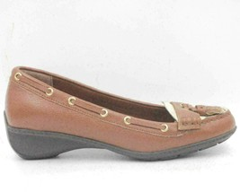 Lauren Ralph Lauren Gael Women Wedge Boat Shoes Size US 5.5B Brown Leather - $35.67
