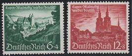 1940 Eupen and Malmedy Set of 2 German Postage Stamps Catalog Number B174-75 MNH