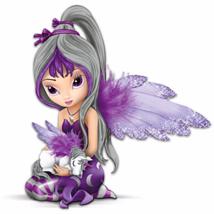 #903522001 *Jasmine Becket-Griffith Fairy And Unicorn Figurine: Midnight... - $38.30