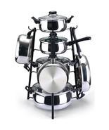 "Black 19"" Pots & Pans Holder Pot Rack Stand Kit... - $38.60"
