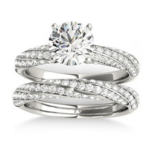 1.11Ct Round Cut D/VVS1 Dimaond Engagement Bridal Ring In 14K White Gold... - $119.99