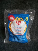 1999 McDonald's Teenie Beanie Baby Nuts The Squirrel New # 8 In Series - $1.35