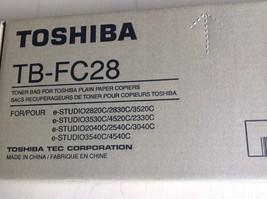 new TOSHIBA TB-FC28 TONER BAG for industrial copier printer e-studio com... - $18.95