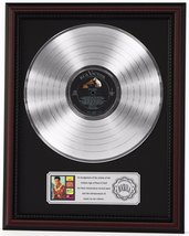 "ELVIS PRESLEY BLUE HAWAII PLATINUM LP RECORD FRAMED CHERRYWOOD DISPLAY ""K1"" - $151.95"