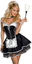 French Maid Costume - S- 2XL Women Sexy Naughty French Maid Uniform Dress image 1