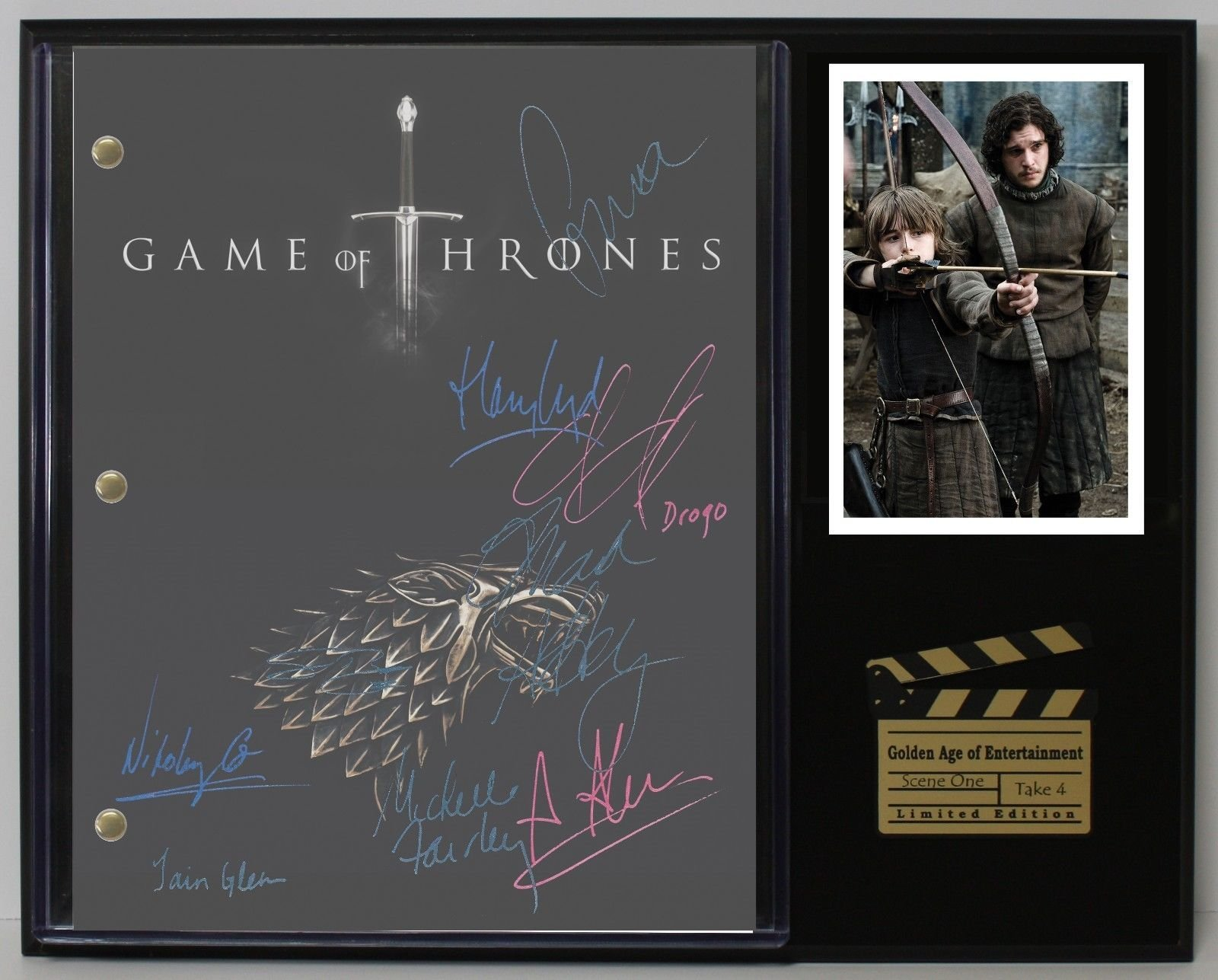 "GAME OF THRONES LTD EDITION REPRODUCTION TELEVISION SCRIPT DISPLAY""C3"""