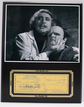 Gene Wilder Frankenstein Reproduction Signed Limited Edition Check Display - $66.45