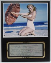 Marilyn Monroe Actress Reproduction Signed Limited Edition Check Display - $66.45