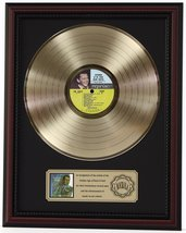 FRANK SINATRA SEPT OF MY YEARS GOLD LP RECORD FRAMED CHERRYWOOD DISPLAY ... - $151.95