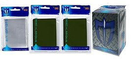 100 EMERALD GREEN GLOSS Finish Sleeves + Deck Box + 100 Perfect Fit Slee... - $7.99