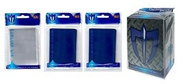 Max-Pro 100 Reflex Blue Gloss Finish Sleeves + Deck Box + 100 Sleeves - Double S - $7.99