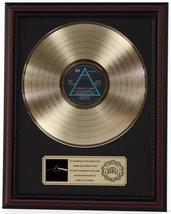 PINK FLOYD DARK SIDE OF THE MOON GOLD LP RECORD FRAMED CHERRYWOOD DISPLA... - $151.95