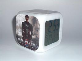 New Led Alarm Clock Avengers Captain America Creative Clock Digital Alar... - $19.99