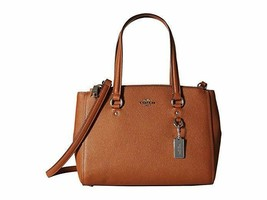 Coach Stanton Carryall Brown Crossgrain Saddle Leather Saddle 37148 SV/SD - $299.00