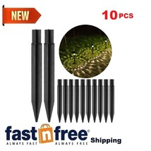 10 PCS Plastic Ground Spikes for Solar Light Stakes Replacement Parts AB... - $12.84