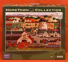 Heronim puzzle Solvang 1000 piece Mega 2008 California scene windmill pu... - $5.00
