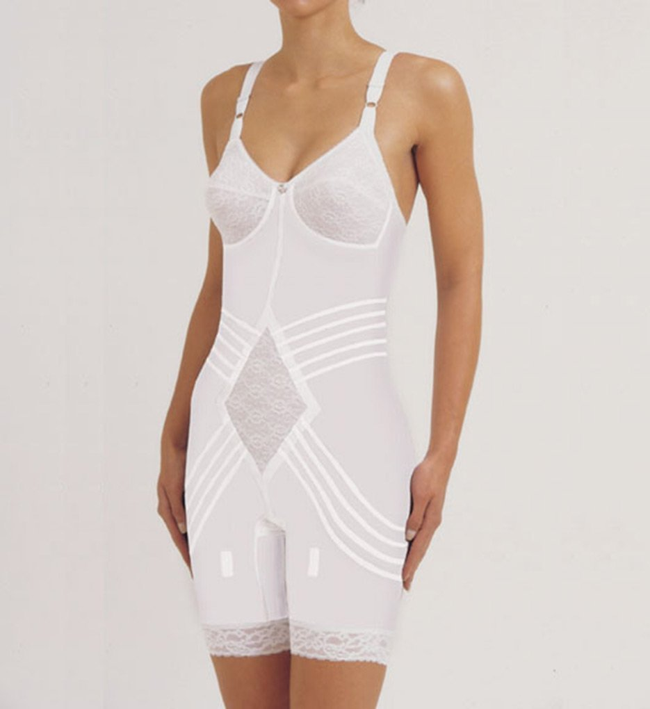 Rago Shapewear Body Briefer / Body Shaper Style 9071 - White - 34DD - $76.23