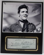 Elvis Presley King Of Rock 3 Reproduction Signed Limited Edition Check Display - $66.45