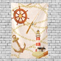 Kids Tapestry Wall Hanging Beautiful Lighthouse Landscape Pattern Room T... - $26.00