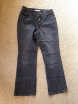 Chico's Platinum Jeans Modern Fit Size 0 Short Faded Black/Gray (4/6) Small - $20.84