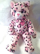 BUILD A BEAR WORKSHOP PINK CHEETAH CAT PLUSH TOY 20 IN - $13.99
