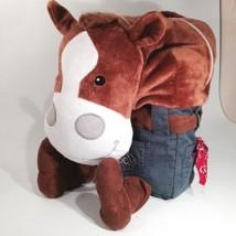 Harry Hoofs Snuggle Horse Pony Plush Backpack Book Bag Kids Sleep Over G... - $16.25