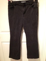 Chico's Platinum Jeans Modern Fit Size 2 Regular Medium 12-14 Faded Blac... - $18.46