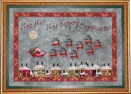 Santa's Midnight Flight christmas cross stitch chart Praiseworthy Stitches - $12.60