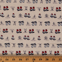 Cotton Tulips Windmills People Dutch Netherlands Flowers Fabric BTY D578.22 - $9.95