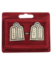 Tallit Talis Clips Prayer Shawl Luchot Habrit Tables of Covenant Inlaid Judaica
