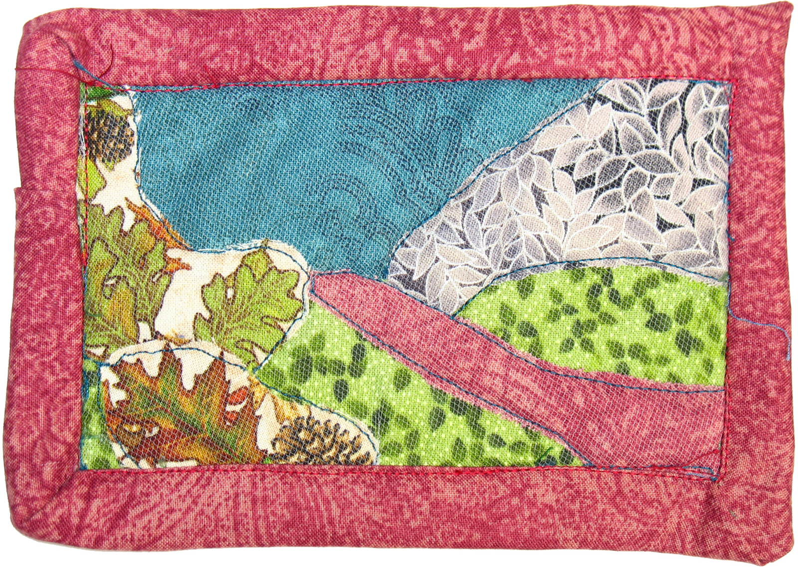 Little Landscape: Quilted Art Wall Hanging
