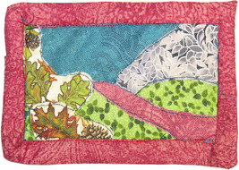 Little Landscape: Quilted Art Wall Hanging - $50.00