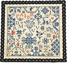 Simple Gifts Faith quaker cross stitch chart Praiseworthy Stitches - $12.60