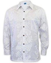 Long Sleeves Formal White Wedding Aloha Shirt, LARGE, WHITE - $65.95
