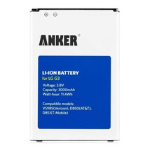 Anker Rechargeable Cell Phone  Battery for LG G3 A6033021-30 3000 mAh - $6.29