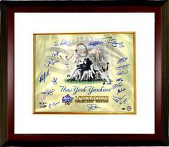 New York Yankees signed 16x20 Photo Custom Framed 1998 WS Champs Celebra... - $248.95