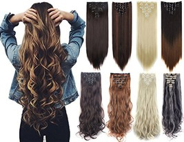 Lelinta 3-5 Days Delivery 7Pcs 16 Clips 23-24 Inch Thick Curly Straight ... - $18.35