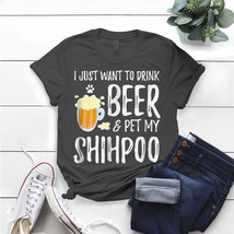 Shihpoo Dog Lover Beer Dog Mom T- Shirt Birthday Funny Ideas Gift Vintage - $15.99+