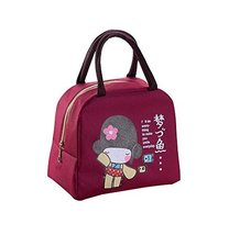 WaterProof Large Capacity Lunch Bag For Kids, Red