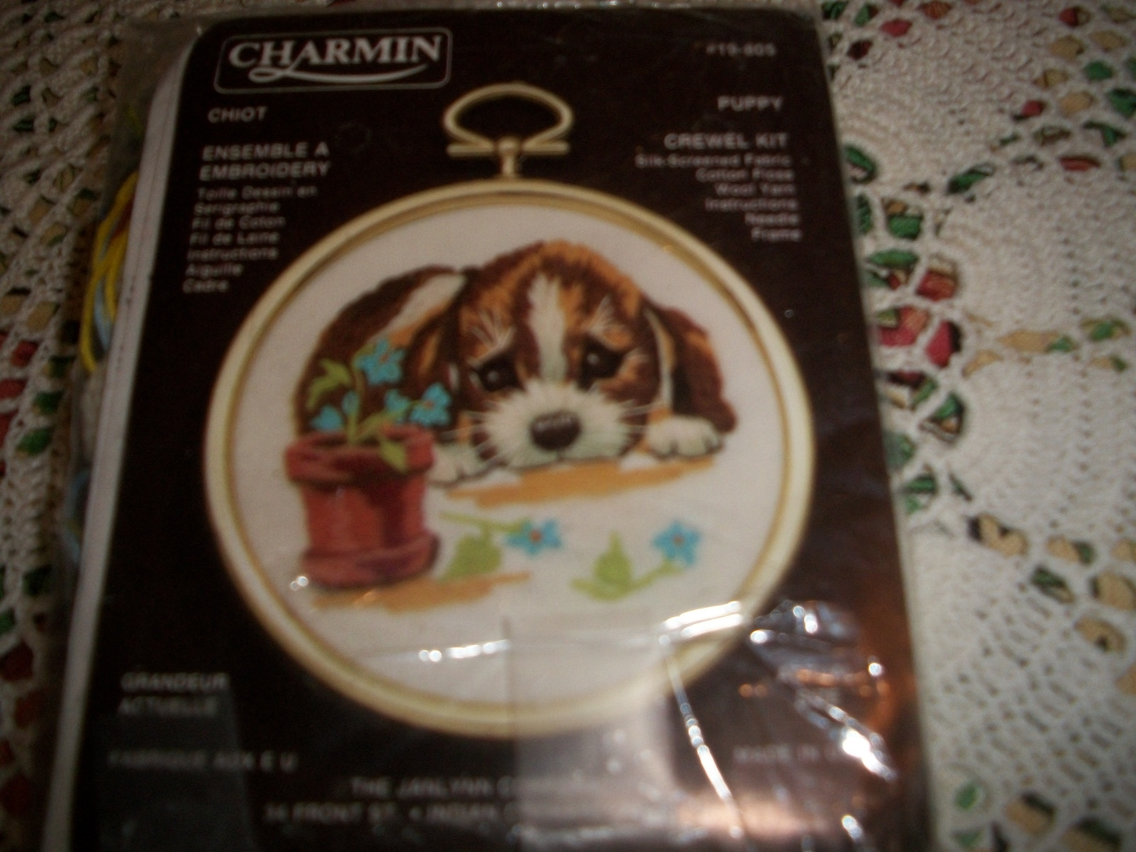 Primary image for Mini Charmin Puppy Crewel Kit