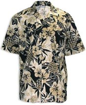 Pineapple Garden Hawaiian Shirt, BLACK, XLARGE - $39.95
