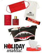 Young Mens Essential Accessories Lacoste Versace Fydelity Fanny Pack Gift Set - $49.00