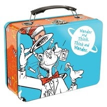Dr. Seuss Cat In The Hat Science Wonder and Think Large Tin Tote Lunchbo... - $15.43