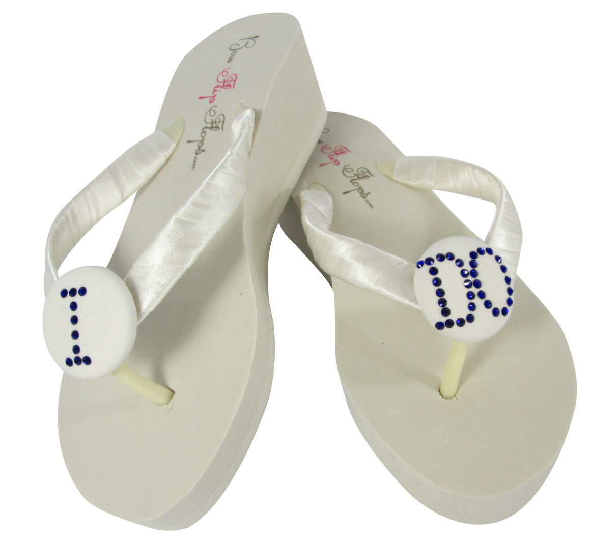 Bridal Flip Flops, sneakers, and a complete line of bridal shoes including dyeable satin, pumps, ballet slippers, sandals, childrens shoes, and handbags. Comfort hand decorated tennis shoes and flip flops for brides, bridesmaids, and flowergirls. bridesmaids, and flowergirls.