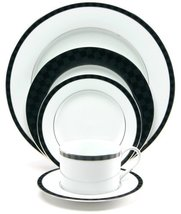 Nikko Ceramics Black Tie 20-Piece Dinnerware Set, Service for 4 - $222.75