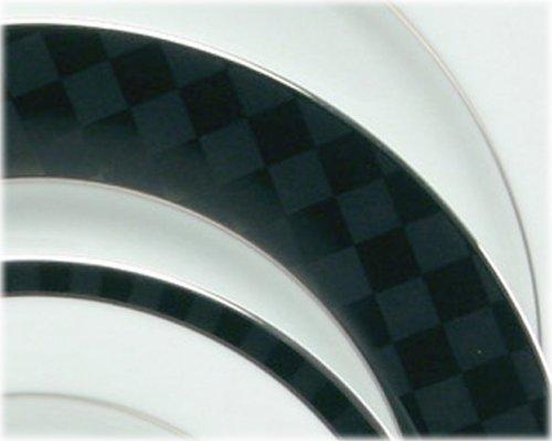 Nikko Ceramics Black Tie 20-Piece Dinnerware Set, Service for 4
