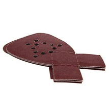 Utoolmart 165×145×95MM 12 Holes Triangle 120 Grit Dovetail Flocking Sandpaper Ox