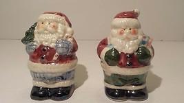 Holiday Christmas Santa Salt and Pepper Shaker - $9.89
