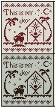 Red Black This Is My Joy cross stitch chart w/floss by Classic Colorworks LHN - $8.00