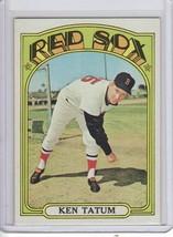 1972 topps baseball card#772 ken tatum  near nm-/nm nice red sox star - $5.02